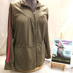 Old Navy Olive Green Full Zip Jacket XL